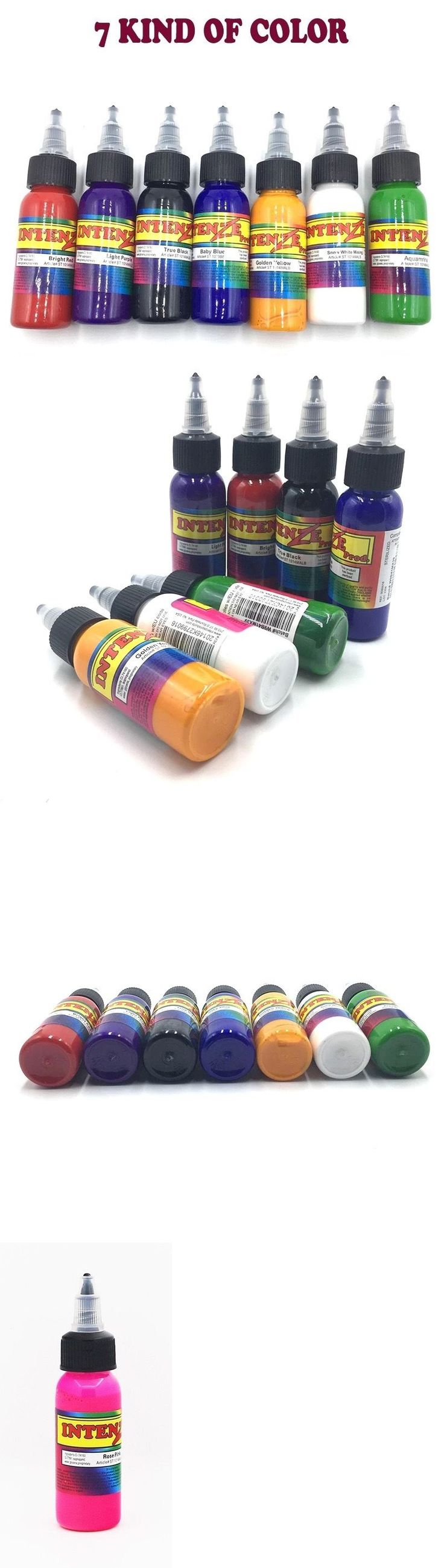 Tattoo Inks: Intenze Tattoo Ink 7 Colors Primary Ink Professional Set 1 Ounce 100% Authentic -> BUY IT NOW ONLY: $69 on eBay!