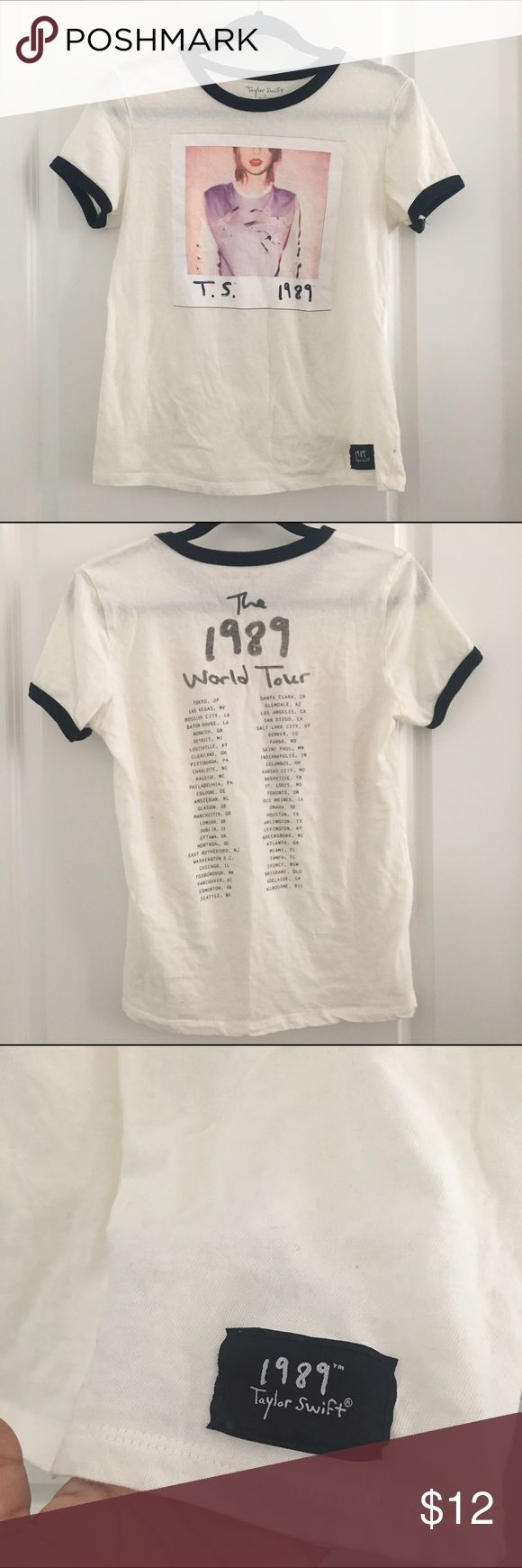 Taylor Swift Official Merchandise T-Shirt Worn once at a T-Swift concert. Official 1989 Tour merchandise. Size M fits true to size. Tops Tees - Short Sleeve