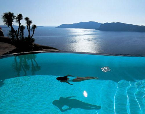 .Water, Swimming Pools, The Mars, Dreams, The Ocean, Places, Santorini, Infinity Pools, Luxury Hotels