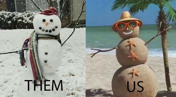 You know you're from Florida snowman