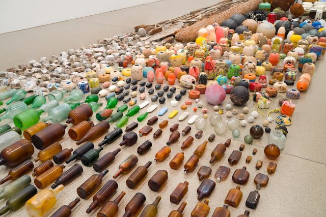 River of Found Objects. Sculptor is Gabriel Orzoco.