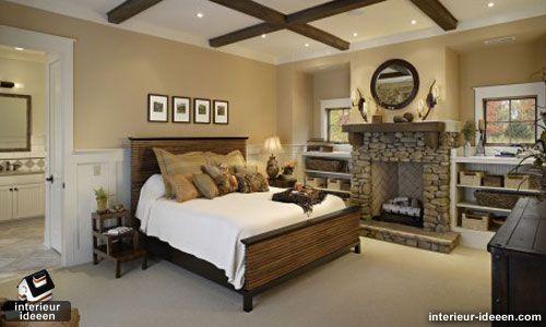 kleur op de muur  bruine slaapkamer 2
