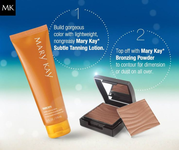 Get your sun kissed look with Mary Kay Subtle Tanning Lotion (fish friendly!) and Mary Kay Bronzing Powder www.marykay.com/sherrimoeller