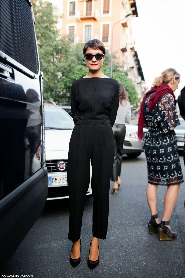 Love the Audrey Hepburn-ness of that look.