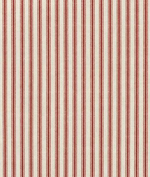 Waverly Timeless Ticking Crimson Fabric Fabric Online