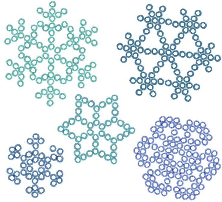 Schéma des flocons en perles HAMA