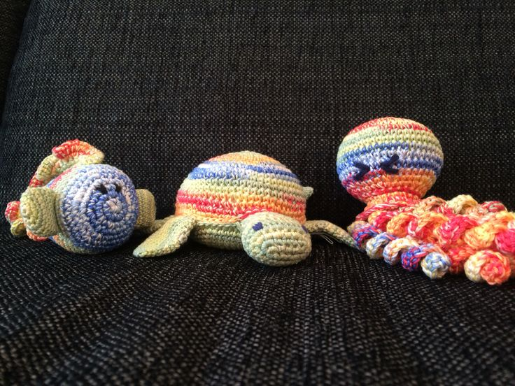Crochet family from the ocean   Love these colors!