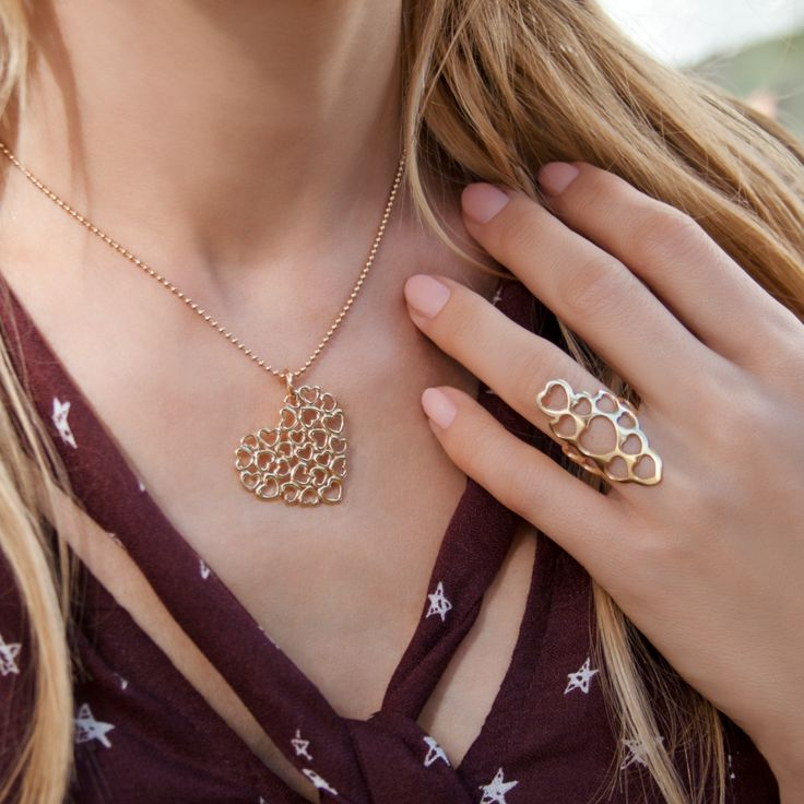 Full Love necklace and ring are the part of the Full Love collection – set dedicated to loving theme. #lilou #full #love #necklace #ring #carnival #ball