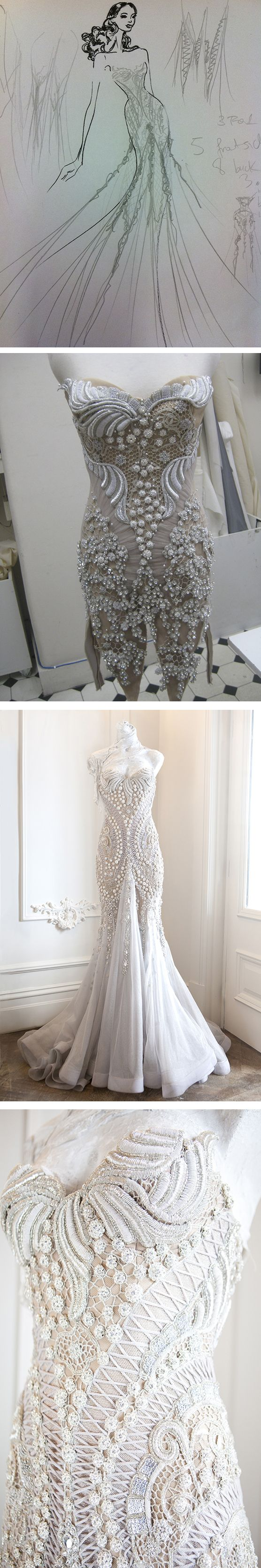 The style of the dress is pretty but not the designs. J'Aton Couture - wowzer!