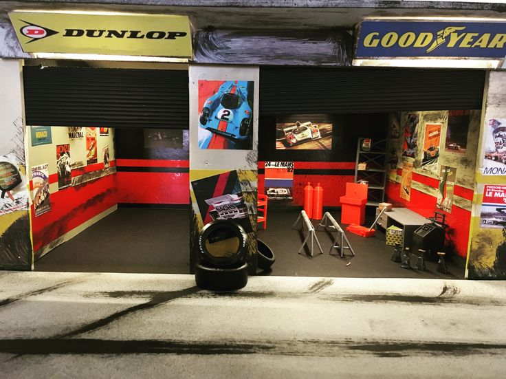 Rally pit stop diorama