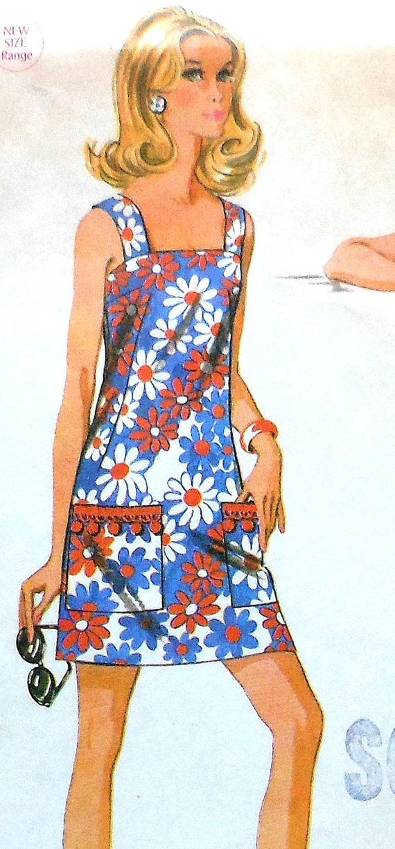 Vintage Summer Dress Sewing Pattern Teen Size 11 12