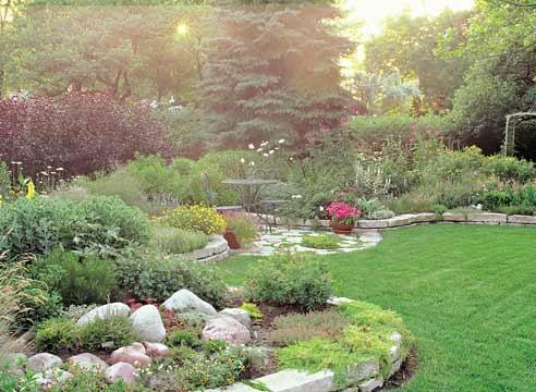 Альпийский сад, садовые стили
