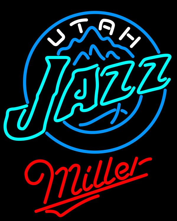 Miller Utah Jazz NBA Neon Sign, Miller with NBA Neon Signs | Beer with Sports Signs. Makes a great gift. High impact, eye catching, real glass tube neon sign. In stock. Ships in 5 days or less. Brand New Indoor Neon Sign. Neon Tube thickness is 9MM. All Neon Signs have 1 year warranty and 0% breakage guarantee.