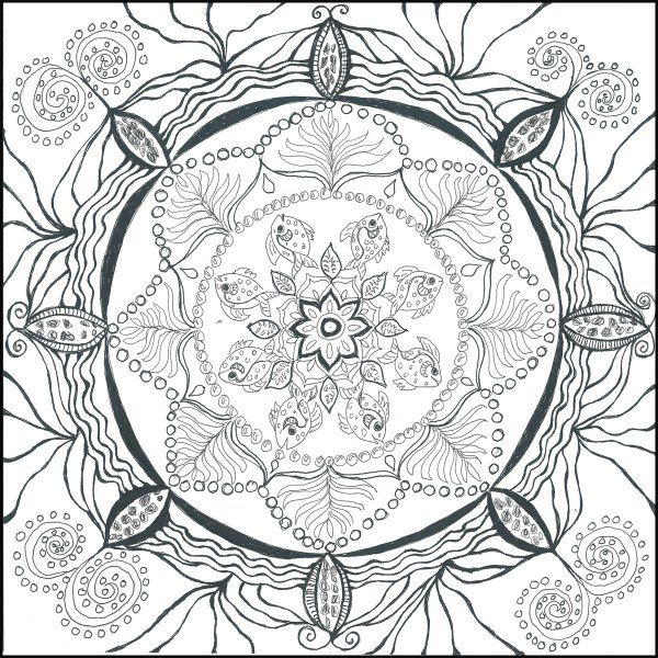 Adult Coloring Book Chapter 2 And So It Grows Expansion Creation