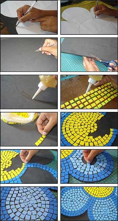 Tapete de Mosaico em EVA: Gomaeva, Goma Eva, Rubber, De Mosaico, Ideas Creativas, Ems Mosaico, Vitro Mosaico, Mosaics Ideas, Mosaics Inspiration