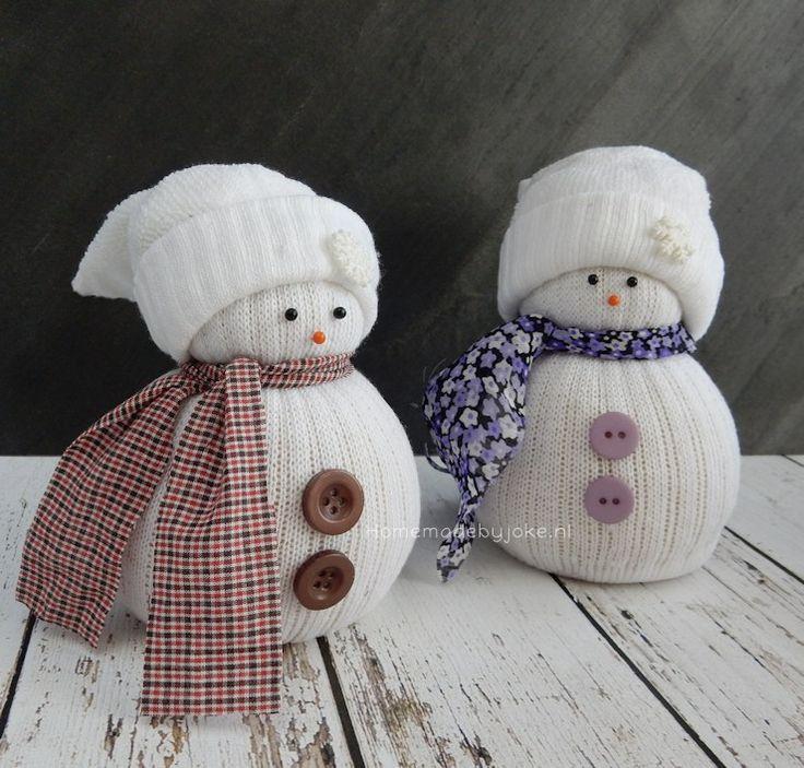 Sneeuwpop van sok - stappenplan met foto's