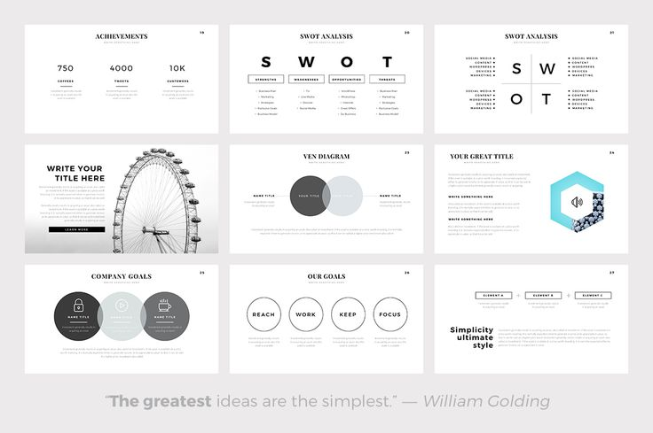 Sphere Minimal Powerpoint Template by SlidePro on @creativemarket