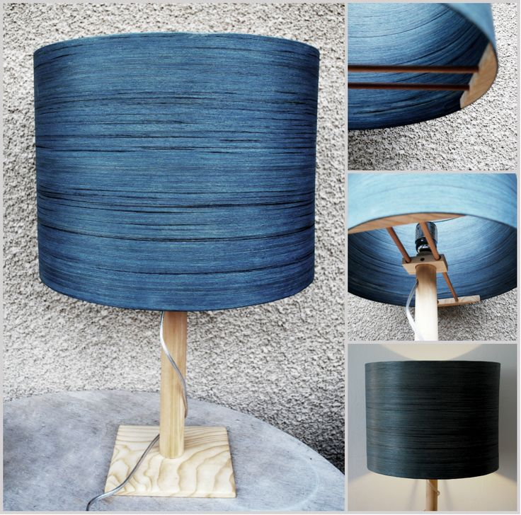 Blue Zap - #handmade #woodlamps #desklamps #desklights #woodenlights #woodwork #wooden #veneerlight #pinewood #zapatero #blue #woodart #design #wooddesign #light# handmadelights #handmadelamps     Table light, made of zapatero veneer, finished with blue stain, and pinewood. Comes with power cable and on/off switch. Dimensions: Diameter: 35 cm, Total height: 55 cm.