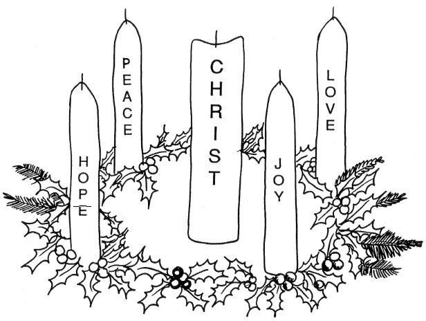 advent wreath coloring pages printable - 1000 images about religious clip art on pinterest