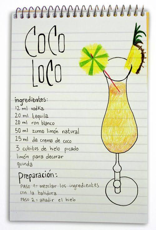 Coco loco: Cóctel con tequila