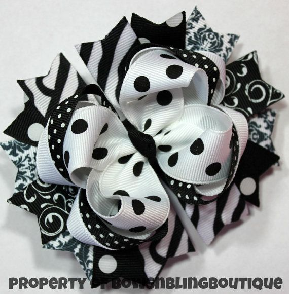 Hey, I found this really awesome Etsy listing at http://www.etsy.com/listing/151736528/black-and-white-hair-bow-hairbow