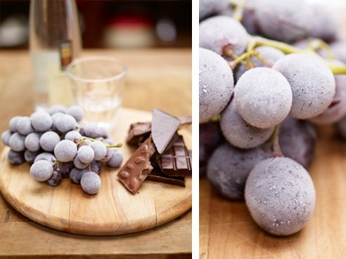 frozen grapes, chocolate and grappa: Food Recipes, Baking Desserts, Desserts Recipes, Christmas Recipes, Desserts Ideas, Dinners Parties, Puddings Desserts, Easiest Recipes, Frozen Grape
