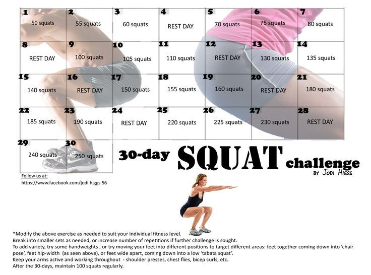 Jodi Higgs 30 day Squat challenges - Google Search