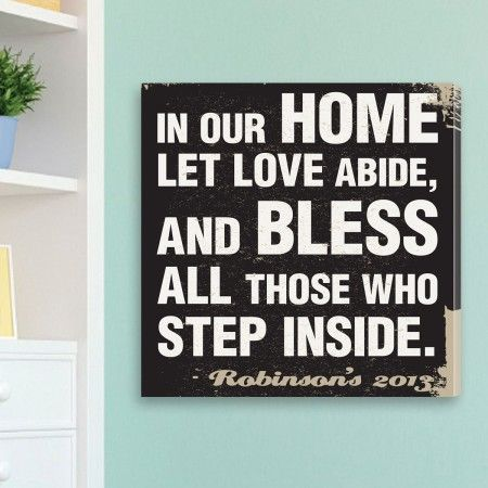 In Our Home Personalized Art