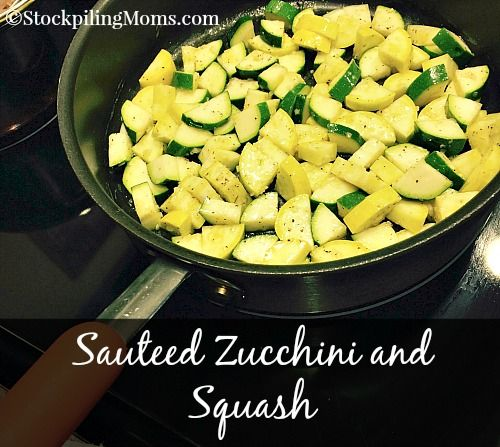 Sauteed Zucchini and Squash is a healthy, clean eating side dish recipe. My all time favorite to make with any dinner meal!