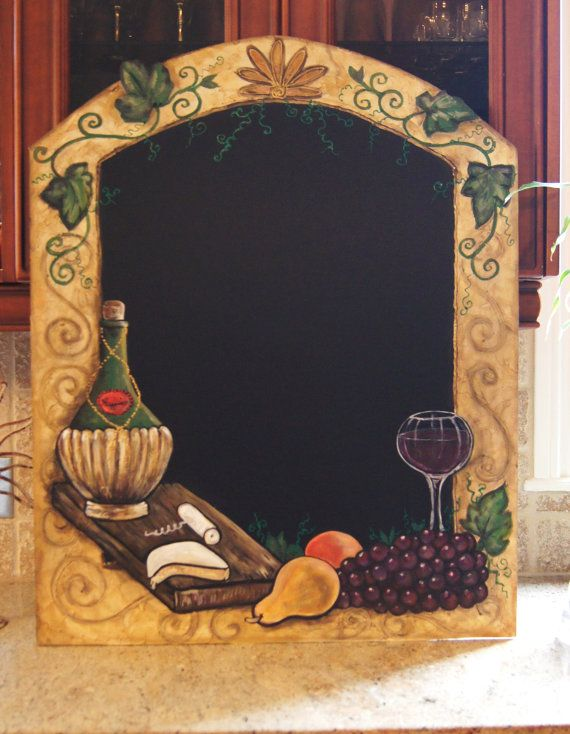 The Chianti Chalkboard Rustic Tuscan Style Chalkboards Great Wine Kitchen