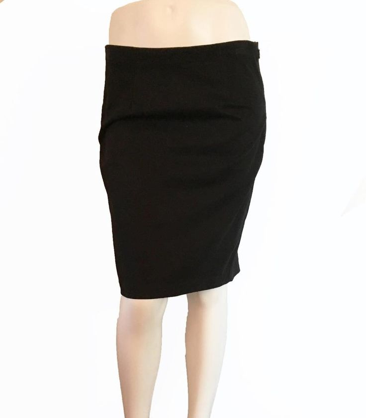 Brushed Twill Pencil Skirt Size 4 Gap Women's Stretch Black NEW with TAG #GAP #StraightPencil