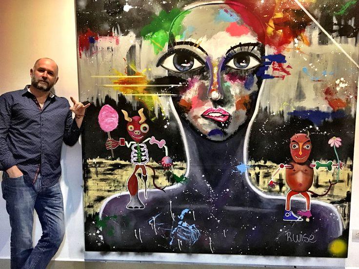 """""""Típicas decisiones"""" acrílico sobre tela, 2m x 2m #rwise #acrylic #2017 #art #mexico #monterrey #face #devil"""