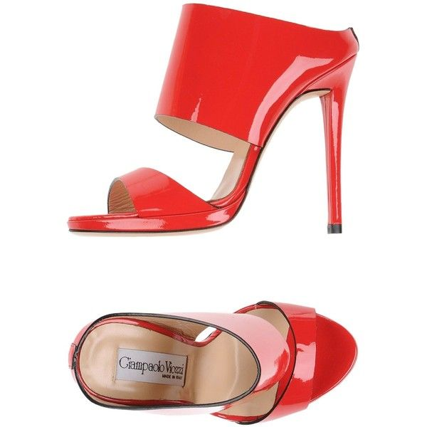 Giampaolo Viozzi Sandals ($185) ❤ liked on Polyvore featuring shoes, sandals, red, stiletto heel shoes, animal shoes, red stilettos, high heel stilettos and leather sandals
