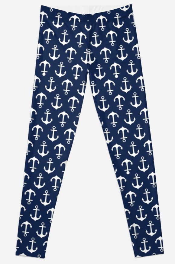 Cute nautical leggings by Daisy Beatrice at Redbubble