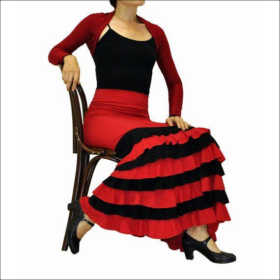 ANA  long flamenco skirt all sizes van RositaFlamenca op Etsy
