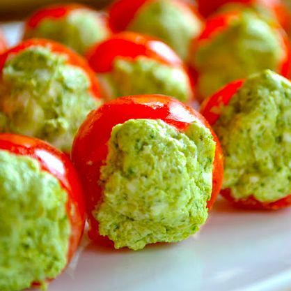 Appetizer: Stuffed Cherry Tomatoes | Recipes | Pinterest