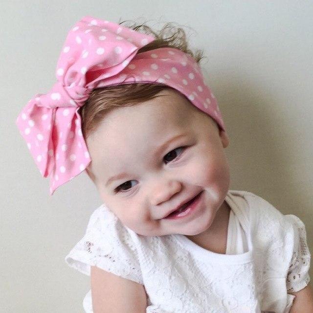 Elastisch Haarband Stirnband Knoten Blumen für Baby Mädchen
