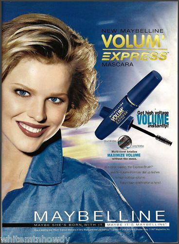 1998 Maybelline Cosmetics Ad Eva Herzigova Photo | eBay