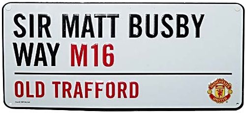 Manchester United Large Street Sign SIR MATT BUSBY WAY M16