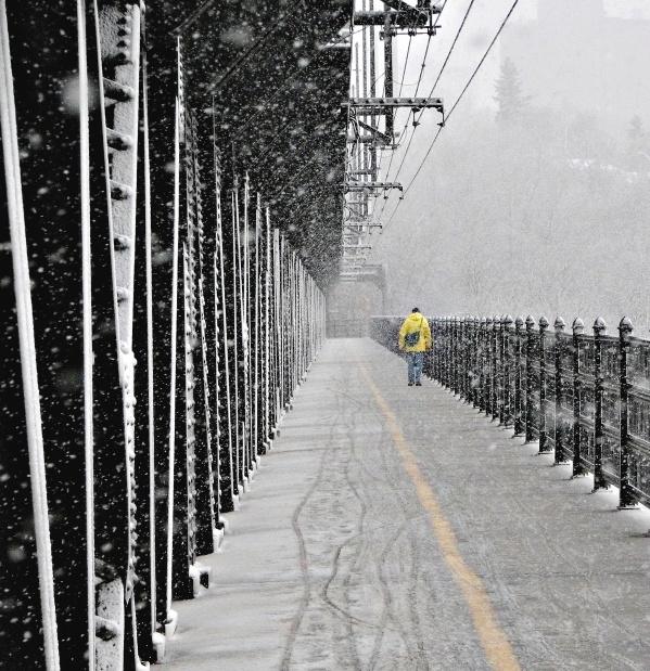 Winter on Edmonton's High Level Bridge