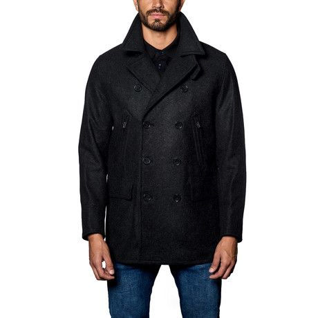 Seattle Wool Peacoat // Charcoal
