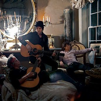 Mick Jagger, Jack white et Keith Richards by Axeley, via Flickr