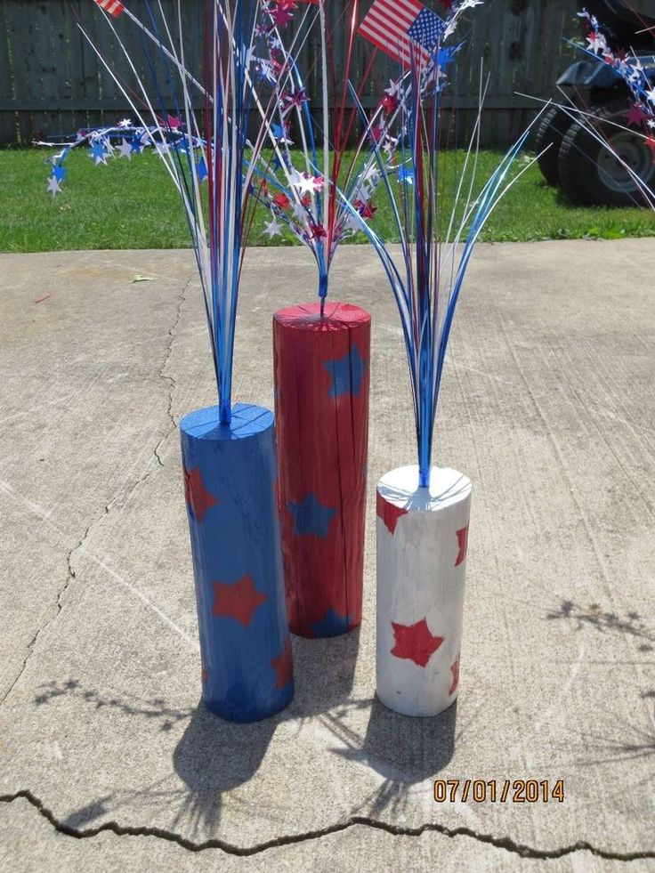 Wood Firecrackers, 4th of July, Memorial Day, Labor Day, Patriotic Decor