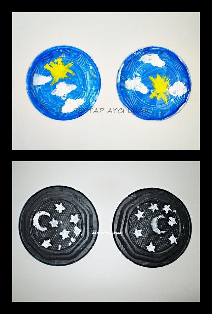 PLASTİK TABAKLARDAN GECE/GÜNDÜZ The plastic base DAY / NIGHT