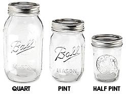 $1.05 per jar! Glass Canning Jars, Ball Canning Jars in Stock - ULINE