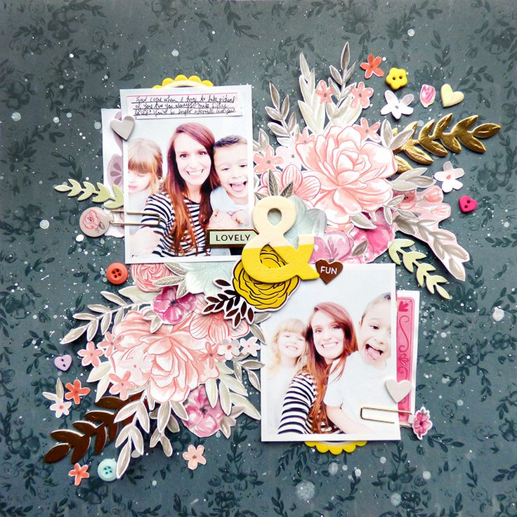 Card Making Ideas Scrapbooking Part - 31: Lovely U0026 Fun Scrapbook Layout By Paige Evans