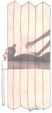 Alweer zo'n mooie illustratie over massage van Kanako.   Boomhutaanzee.nl