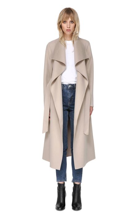 f3042ef89f20 Ireland - Meghan's Mackage 'Mai' belted wool coat with waterfall collar,  color sand ($750)