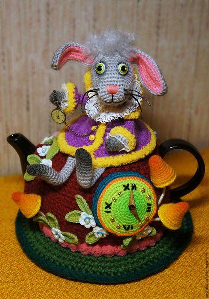 """Кухня ручной работы. Ярмарка Мастеров - ручная работа. Купить Грелка на чайник """"Безумное чаепитие"""" (с чайником). Handmade. яркий"""