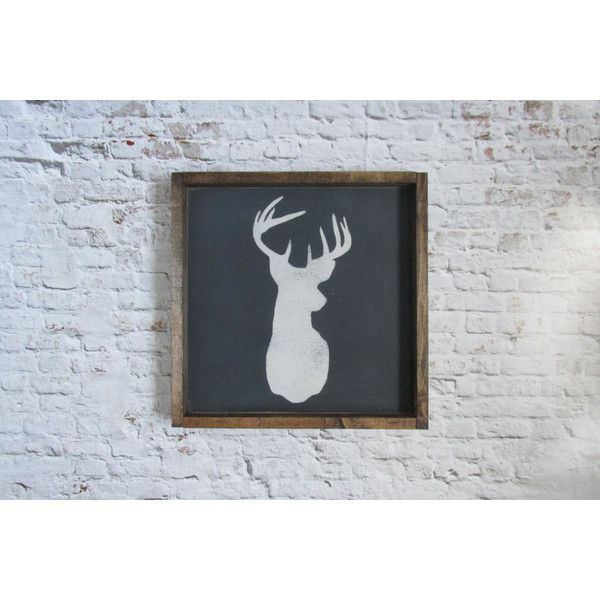 Deer Head Wood Sign Wooden Sign Rustic Decor Cabin Decor Rustic Sign... ($31) ❤ liked on Polyvore featuring home, home decor, wall art, brown, home & living, home décor, wall décor, handmade home decor, wood home decor and wooden home decor